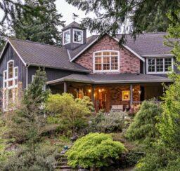 house, brick, wood, garden